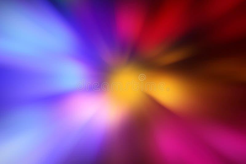 Zoom, fondo leggero rosa blu di effetto dello zoom, tecnologia digitale di potere di illuminazione di effetto radiale variopinto  fotografie stock