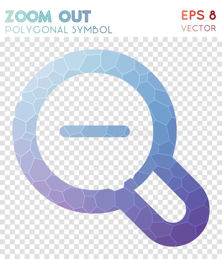 Zoom heraus umreißen polygonales Symbol lizenzfreie abbildung