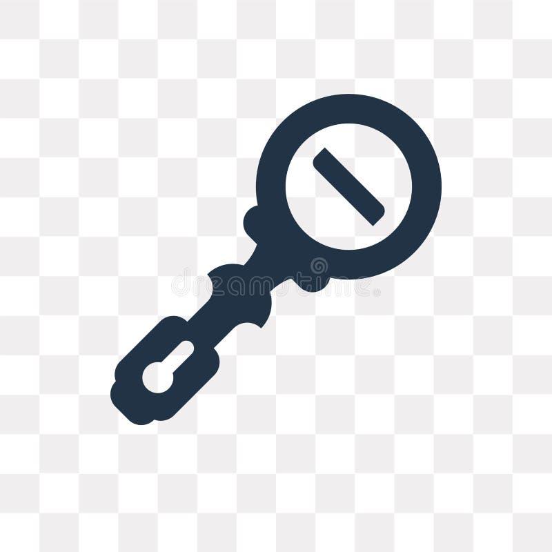 Zoom heraus vector die Ikone, die auf transparentem Hintergrund, Zoom ou lokalisiert wird vektor abbildung