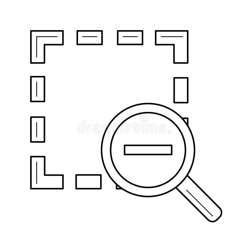 Zoom heraus zeichnen Ikone vektor abbildung