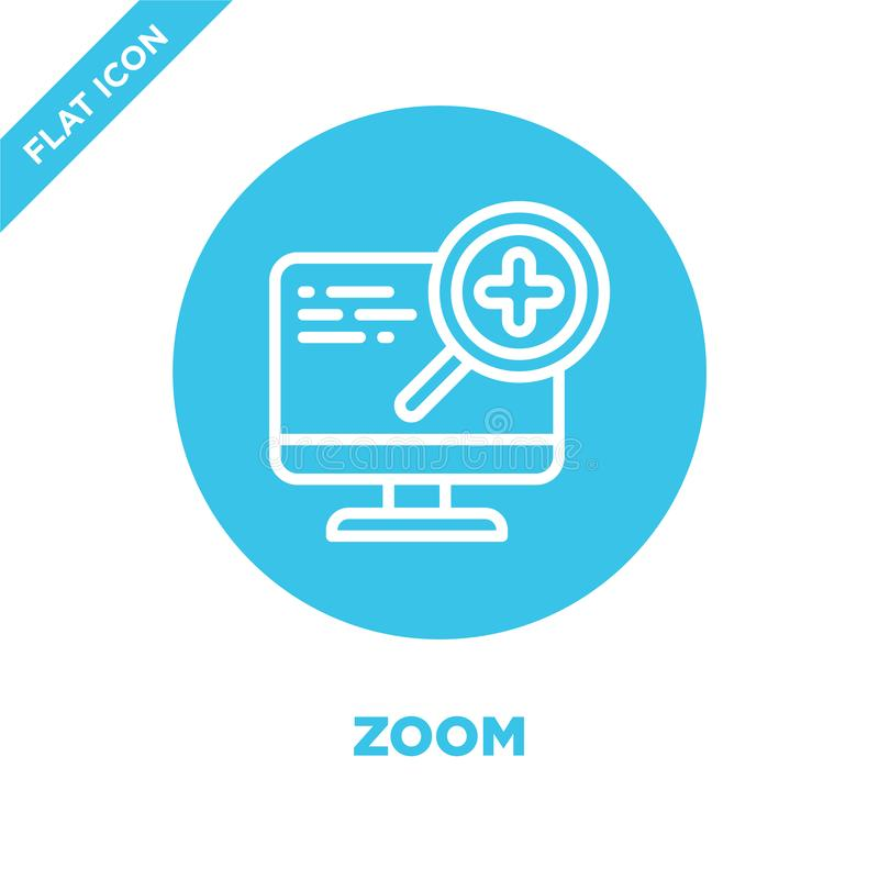 zoom icon vector from accessibility collection. Thin line zoom outline icon vector  illustration. Linear symbol for use on web and royalty free illustration
