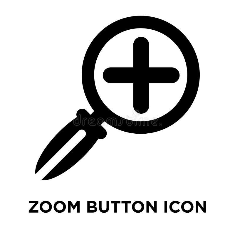Zoom-Knopfikonenvektor lokalisiert auf weißem Hintergrund, Logo conce vektor abbildung
