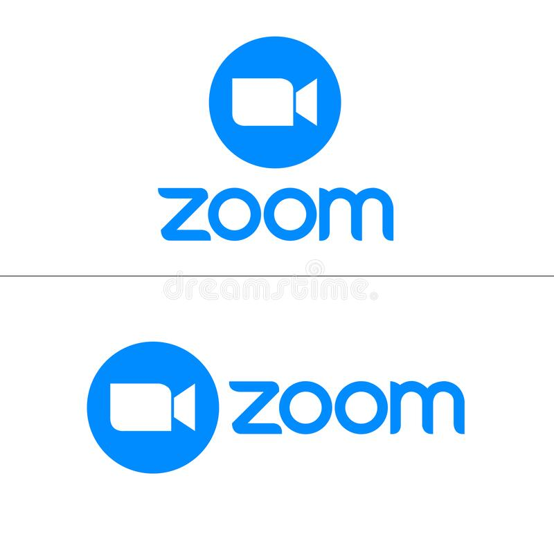 Free Zoom Logo, Zoom Icon, Online Video Meeting, Camera Vector Icon Royalty Free Stock Images - 207622809