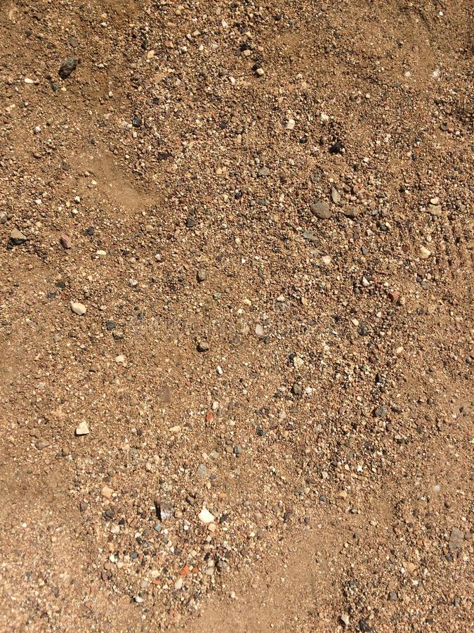 Zoom out sand and gravel texture royalty free stock photos