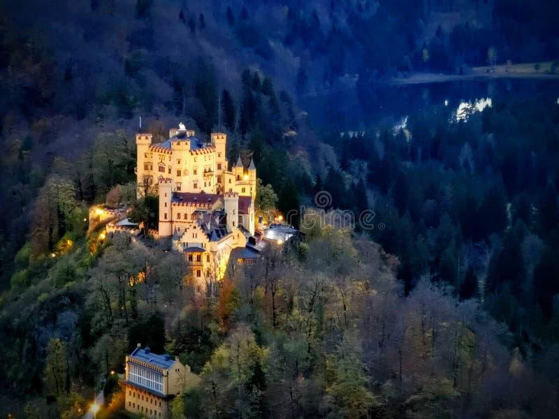 Zoom over Hohenschwangau castle royalty free stock image