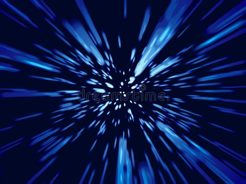 zoom prędkości światła royalty ilustracja