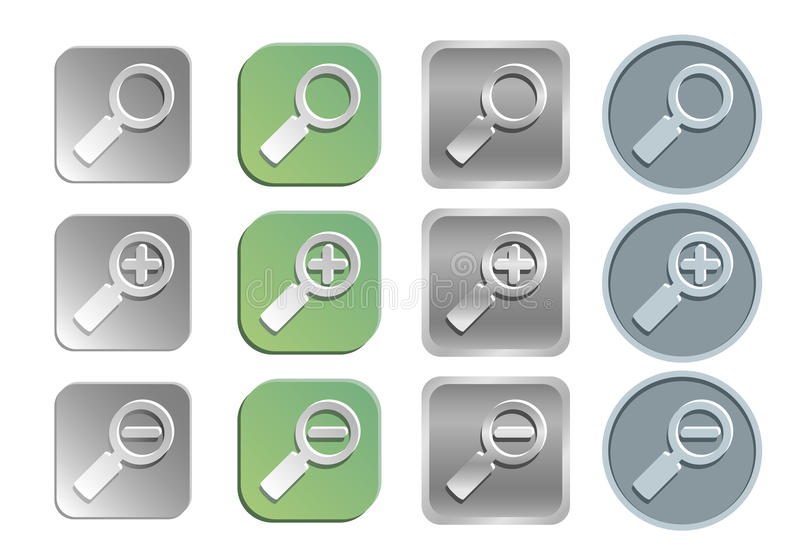 Zoom/search icons vector illustration