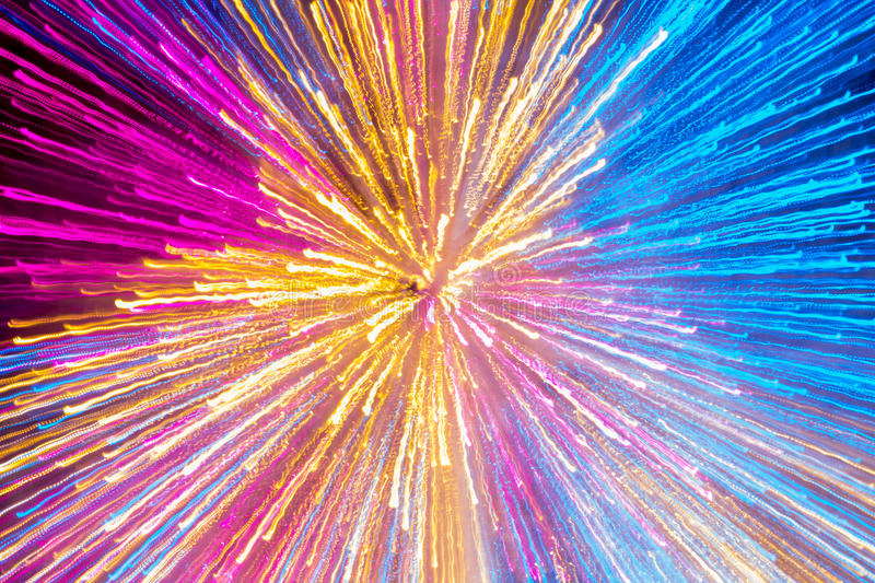 Zoom Speed technigue with colorful lighting royalty free stock images