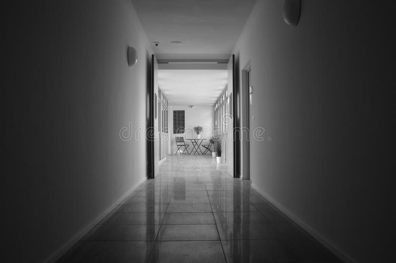 Zooma in till en korridor royaltyfria bilder
