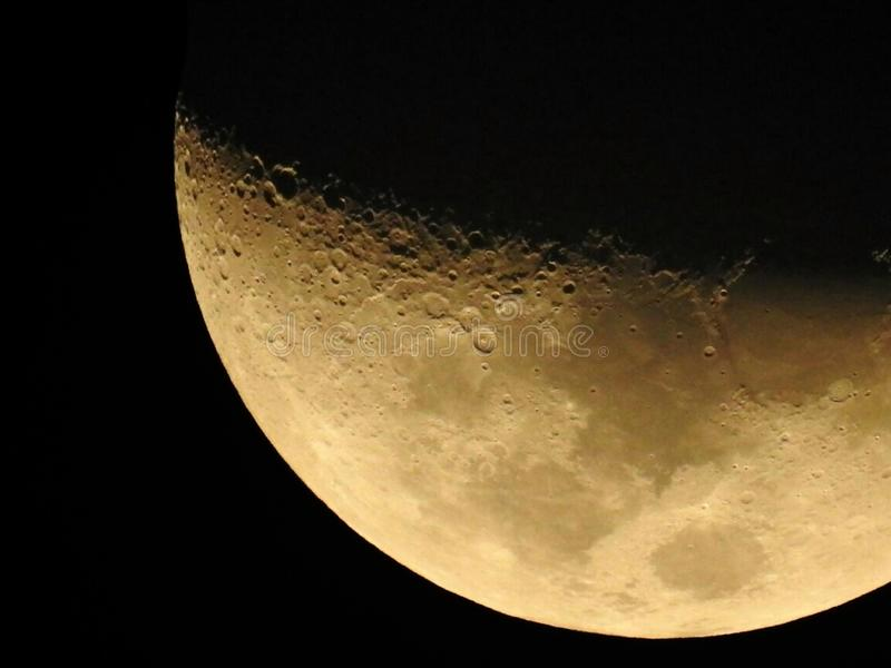 Dark side of the moon stock photography