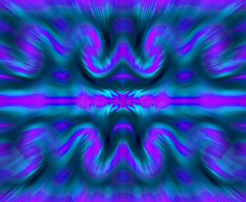 ZOOMEFFEKT PÅ BLÅ OCH PURPURFÄRGAD REPETITIONMODELL vektor illustrationer