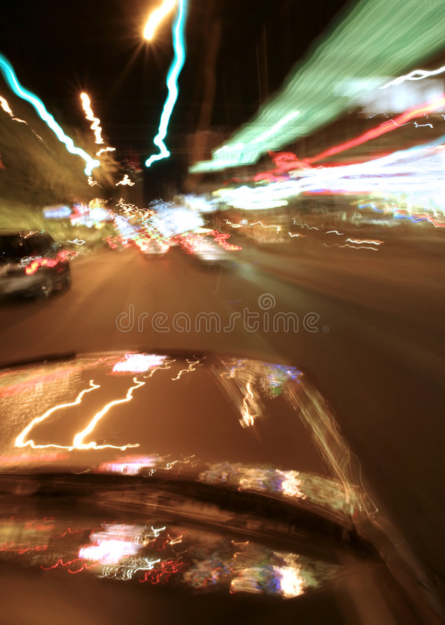 Zoomin durch Vegas stockfoto