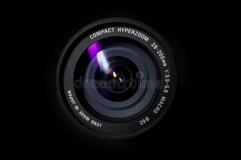 Zoomlens stock foto's