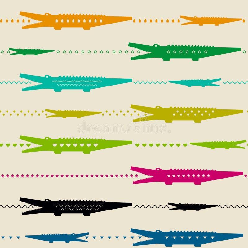 Zoomuster mit Krokodilen lizenzfreie abbildung