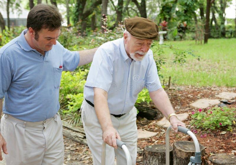 Zoon & Bejaarde Vader royalty-vrije stock afbeeldingen