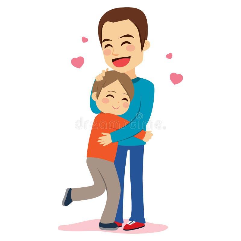 Zoonsvader Hugging vector illustratie
