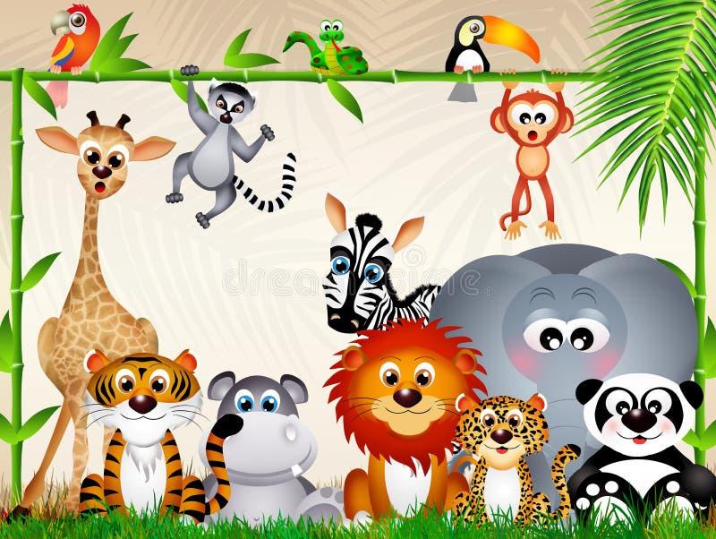 zootiere stock abbildung illustration von giraffe safari