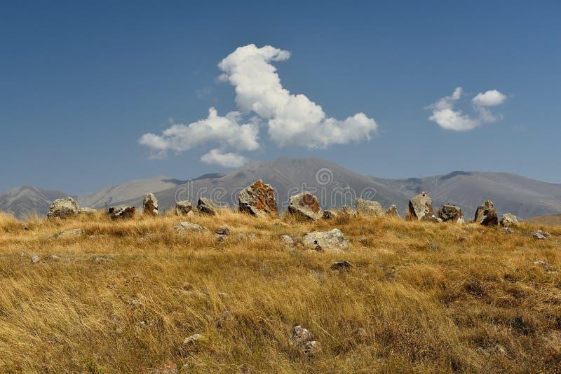 Zorats Karer eller Karahunj nära Sisian, Armenien royaltyfria bilder