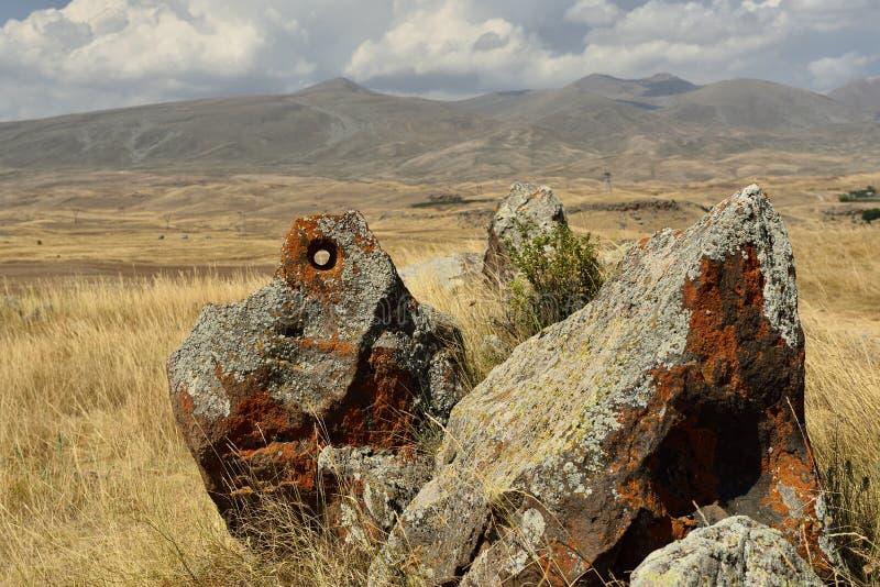 Zorats Karer of Karahunj dichtbij Sisian, Armenië royalty-vrije stock afbeelding