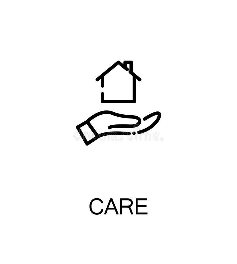 Zorg, liefdadigheidspictogram stock illustratie