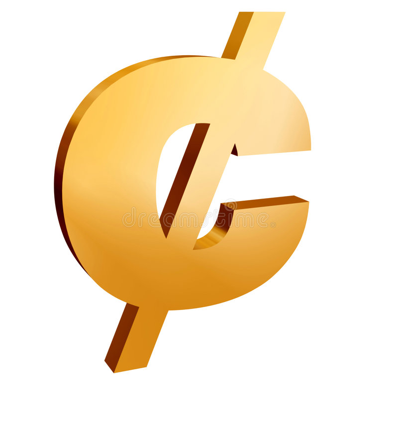 Zorg voor de centen royalty-vrije illustratie