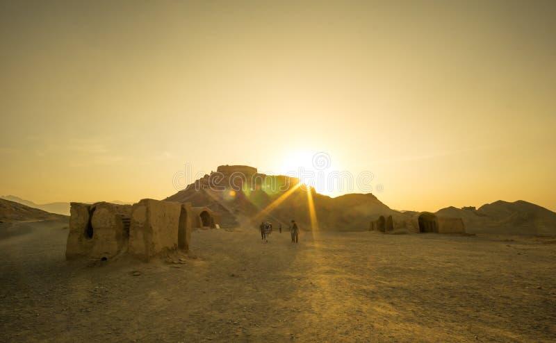 Zoroastriantystnadtorn i Yazd royaltyfri bild