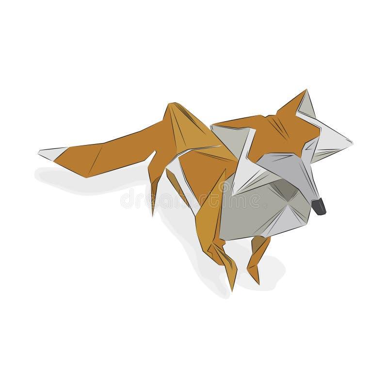 Zorro de papel imagen de archivo libre de regalías