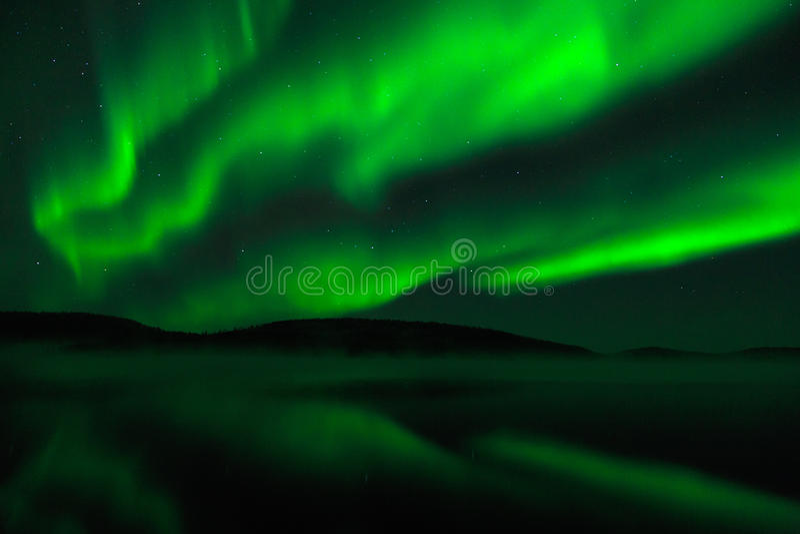 Zorz borealis - Północni światła fotografia stock