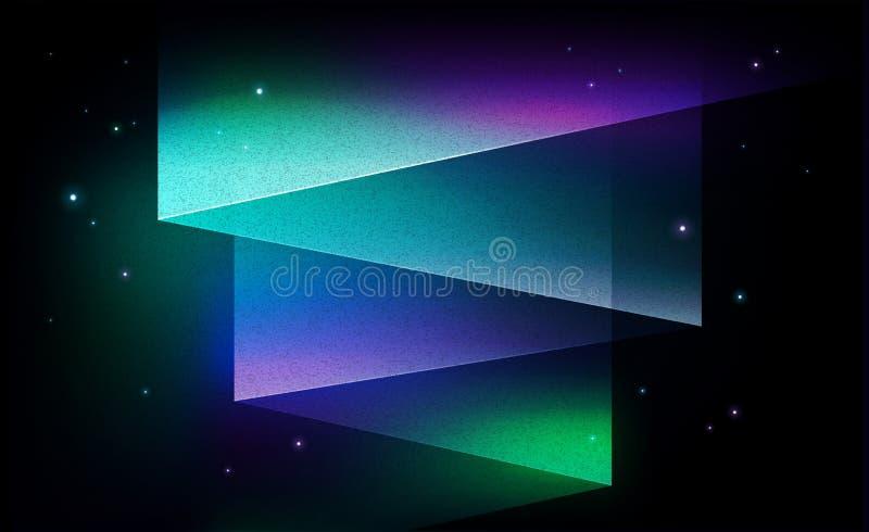 Zorz borealis północnych świateł tła abstrakcjonistyczny wektorowy vinta ilustracja wektor