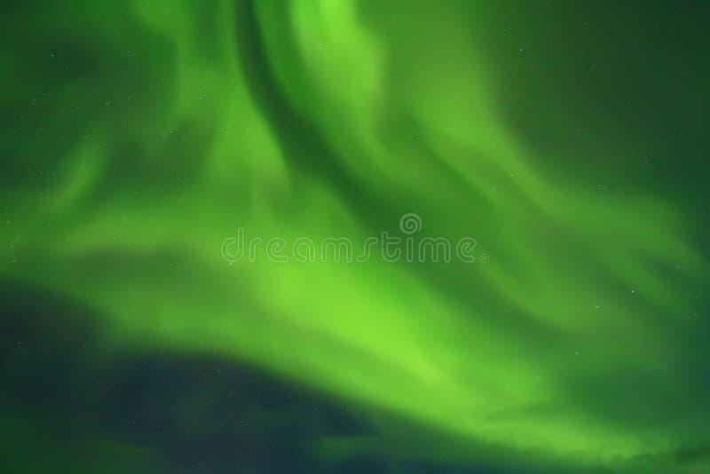 Zorz borealis w północnym niebie zdjęcie royalty free