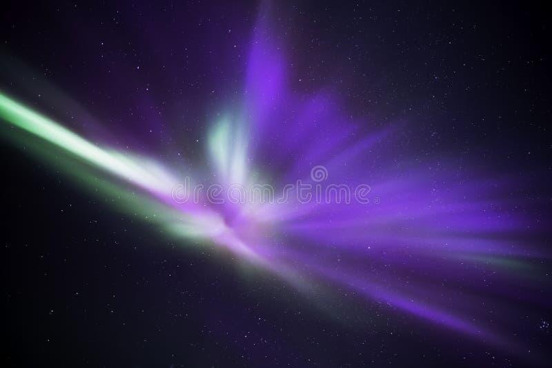 Zorza anioł fotografia stock