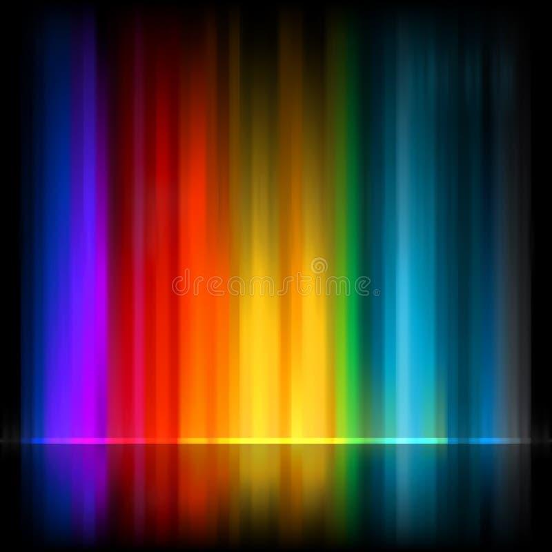 Zorza Borealis. Kolorowy abstrakt. EPS 8 ilustracji