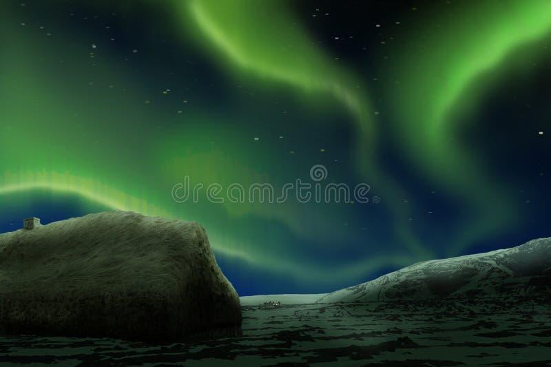 zorzy borealis światła północni obrazy stock