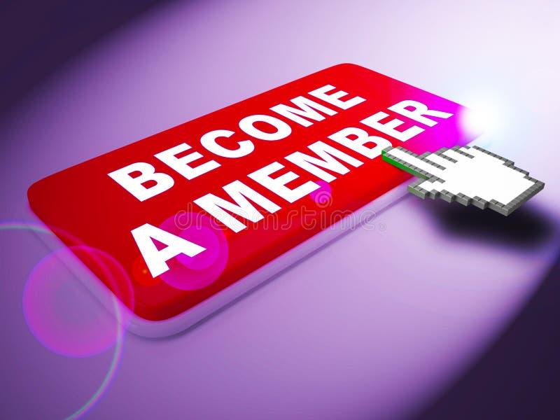 Zostać członek sposoby Łączą W górę 3d renderingu ilustracja wektor