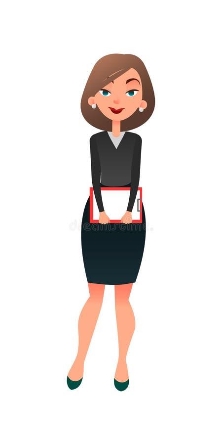 zostać one wywiad histeryczna praca jeden Młody kreskówki kobiety kandydat dla pracy Ufny nieznacznie zmartwiony bizneswoman jest royalty ilustracja