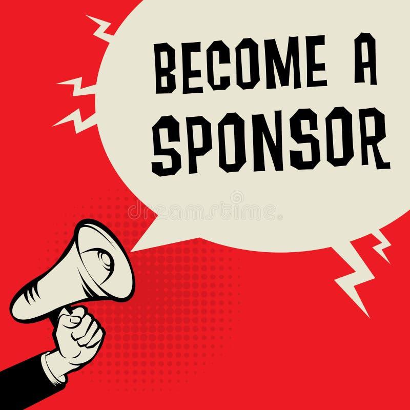 Zostać sponsoru biznesu pojęcie royalty ilustracja