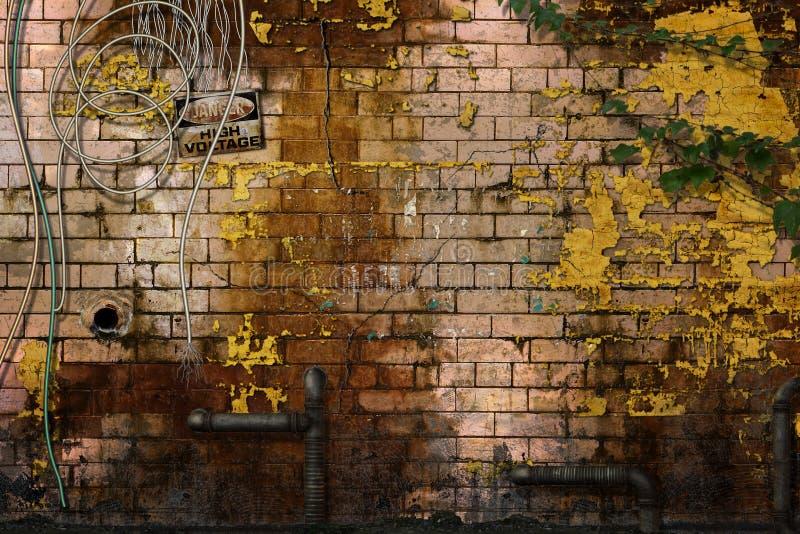zostać zniszczone ściany ilustracja wektor
