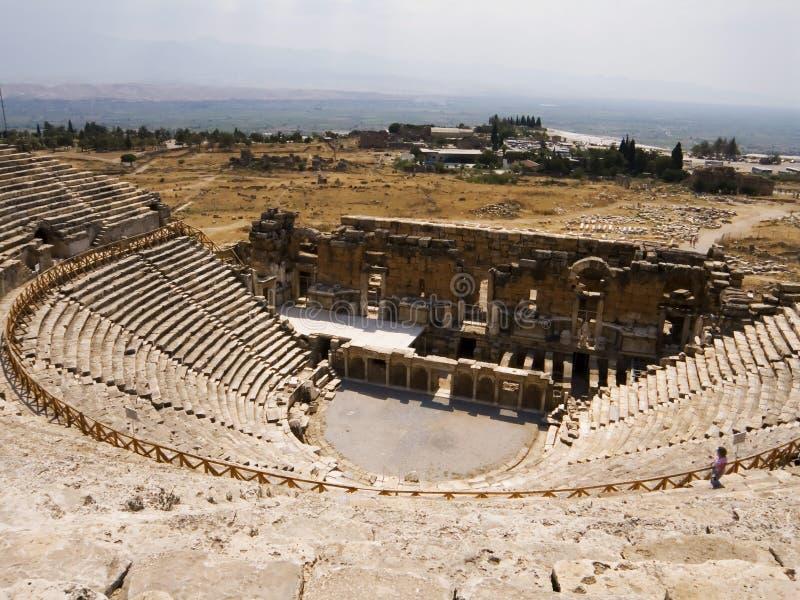 zostań starożytnej greki teatr zdjęcie stock