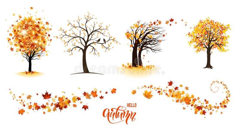 zostaw drzewa ilustracji