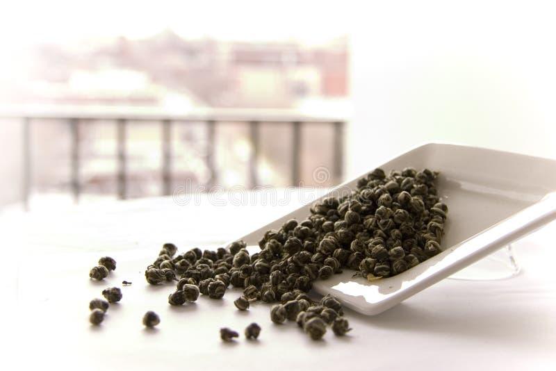 zostaw tea jasmine smoka łzy fotografia stock