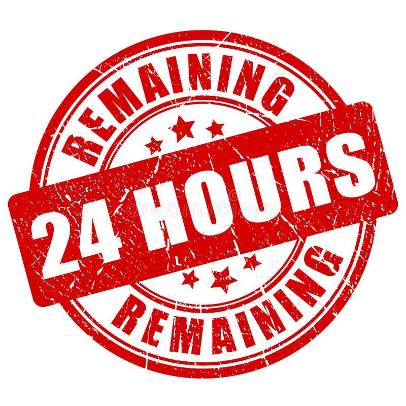Zostawać 24 godzina znaczka royalty ilustracja