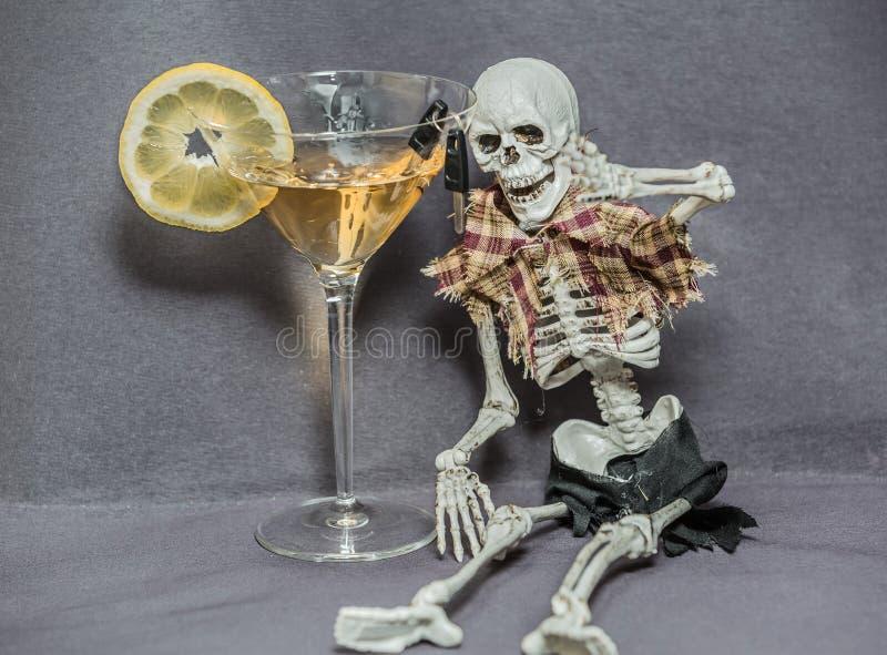 Zou u of houdt van u aan het joying van het leven willen drinken en drijven royalty-vrije stock afbeelding