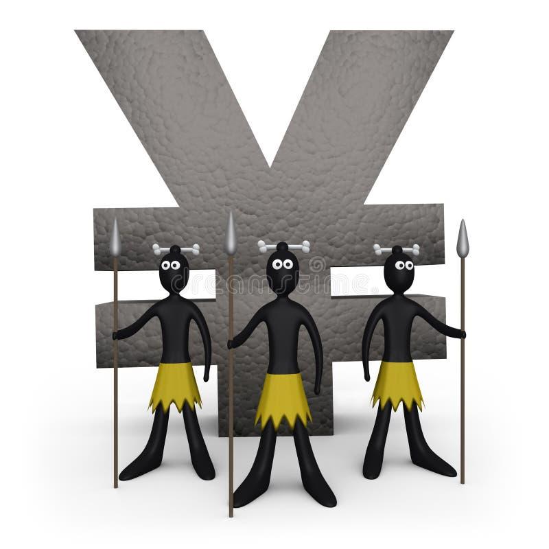 Zoulou - monument de Yens illustration libre de droits