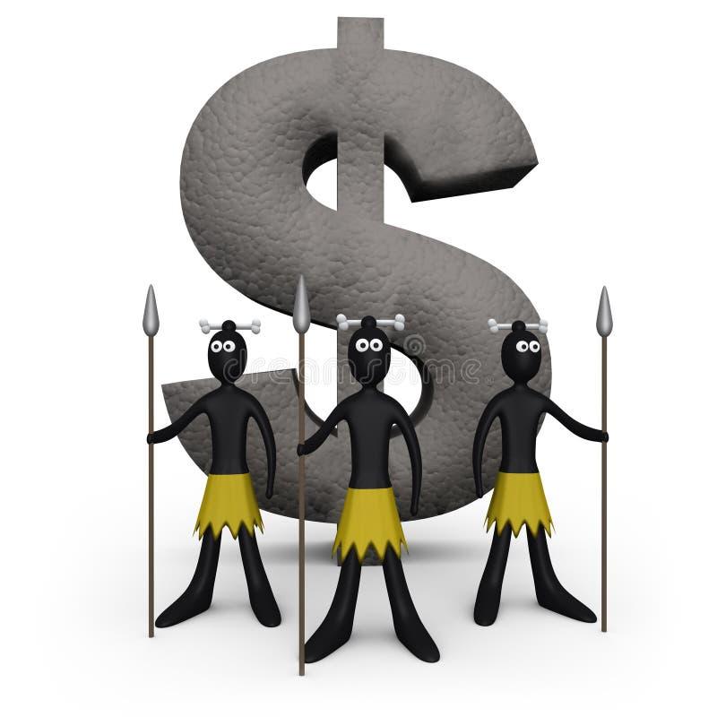 Zoulou - monument du dollar illustration libre de droits