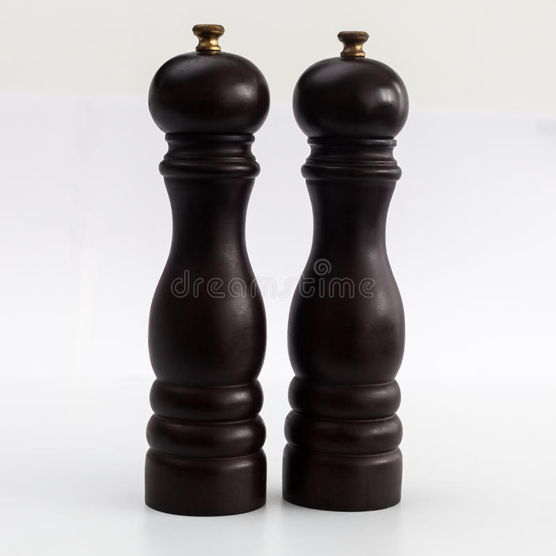 Zout en pepermolensmolens royalty-vrije stock afbeelding