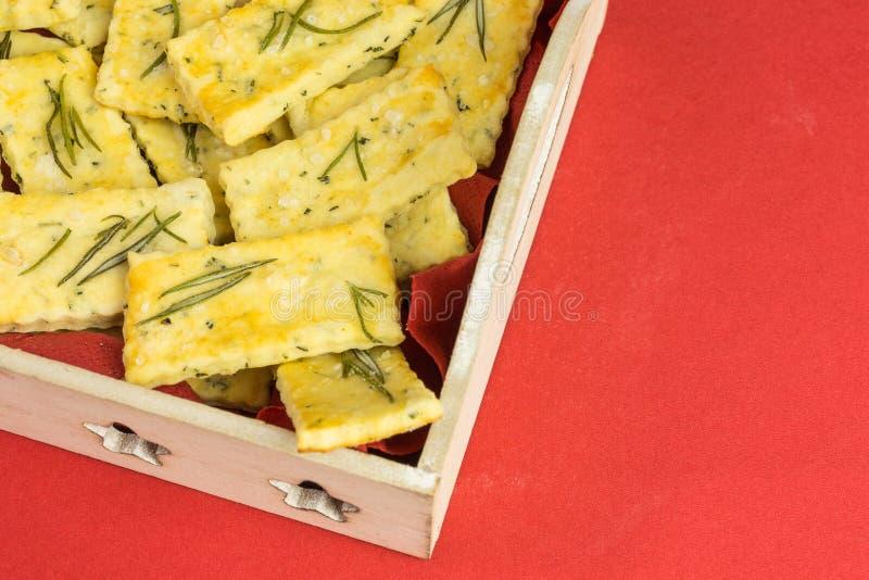 Zoute crackers stock foto
