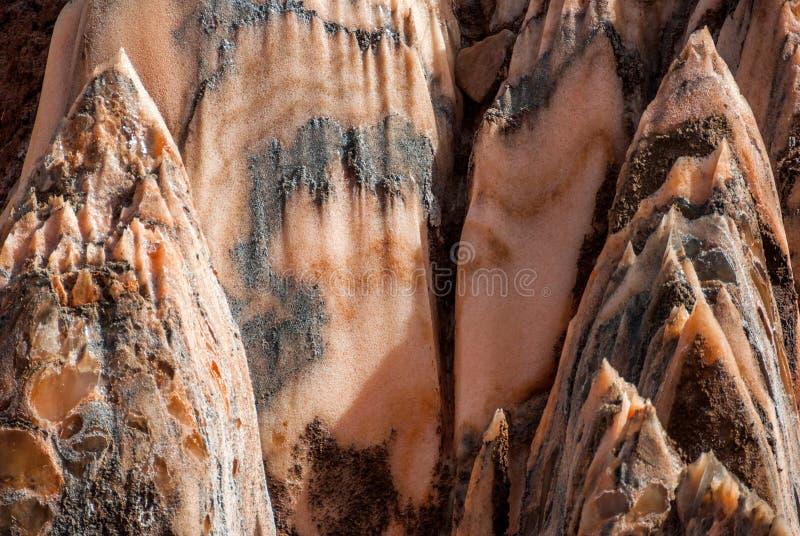 Zoute Kristallen backgraund zoute berg in Spanje royalty-vrije stock foto