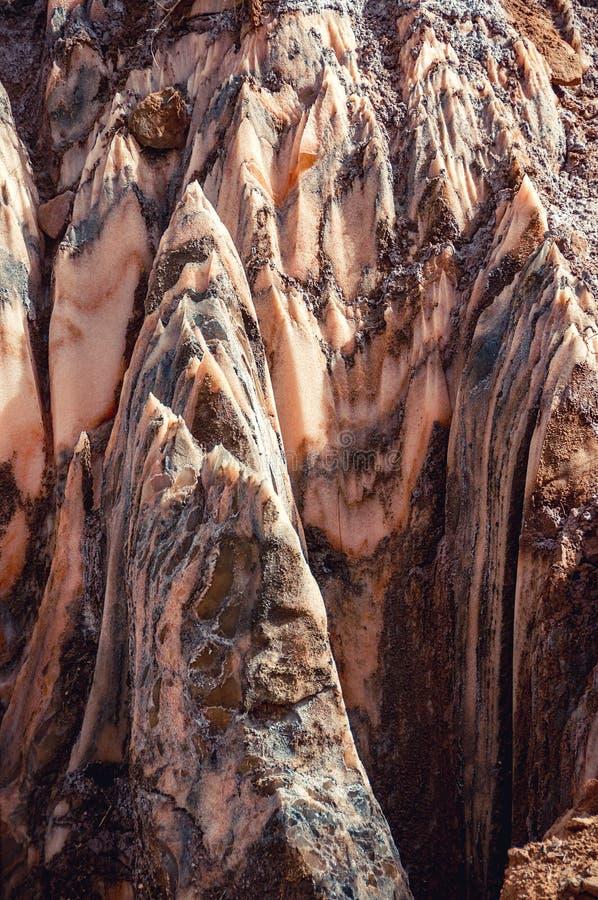 Zoute Kristallen backgraund zoute berg in Spanje stock foto's
