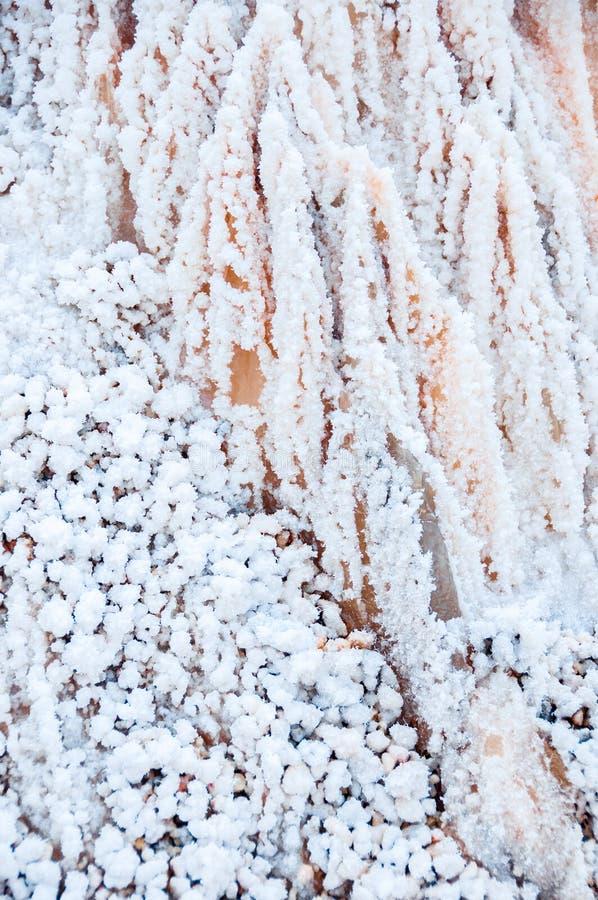 Zoute Kristallen backgraund zoute berg in Spanje stock foto