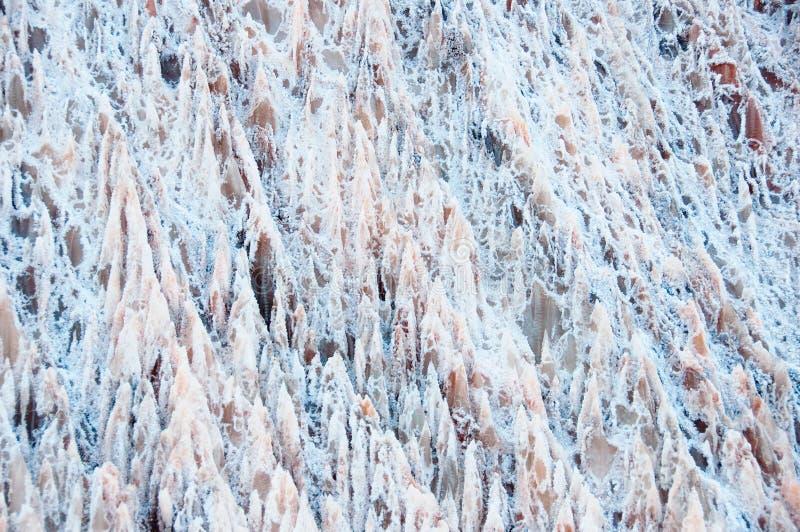 Zoute Kristallen backgraund zoute berg in Spanje royalty-vrije stock foto's